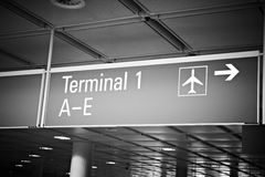 Airport terminal billboard Stock Photography