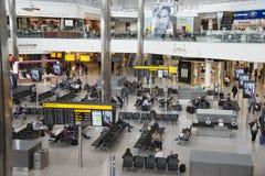 Airport terminal building interior Royalty Free Stock Photos