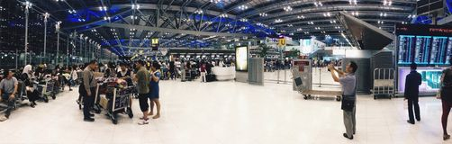 Airport terminal. Departure hall passengers royalty free stock image