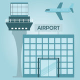 Airport terminal design Royalty Free Stock Photography