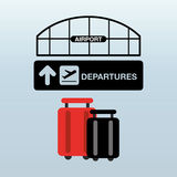 Airport terminal design. Illustration eps10 graphic Royalty Free Stock Image