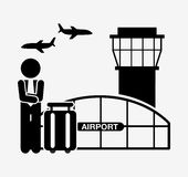 Airport terminal design. Vector illustration eps10 graphic Stock Photography
