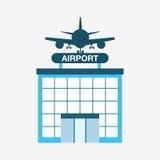 Airport terminal design Royalty Free Stock Photo