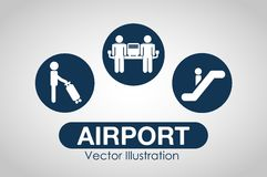 Airport terminal design Royalty Free Stock Images