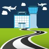 Airport terminal design Stock Photography