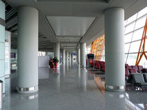 Airport Terminal. Empty Airport Terminal with nice reflections in the floor Stock Photos