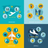 Airport terminal flight services Stock Images