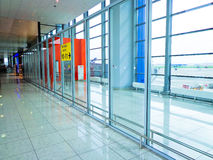 Airport terminal hall Business backgound Stock Photo