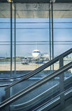 Airport terminal hall Stock Images