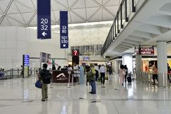 The airport terminal at hongkong Royalty Free Stock Photos