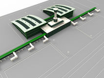 Airport terminal illustration. 3D render illustration of an airport terminal Royalty Free Stock Images