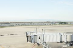 airport terminal, Japan ,Airplane at the terminal gate ready for Stock Photos