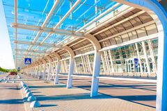 Airport terminal outside Stock Image