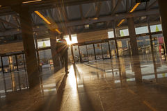 Airport terminal. Reflections on a modern airport terminal Stock Photography