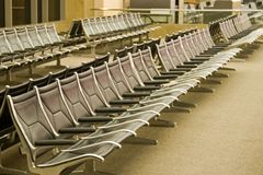 Airport Terminal Seating Royalty Free Stock Images