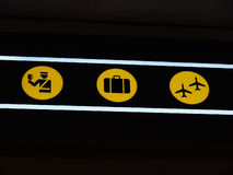 Airport terminal signs Stock Photos