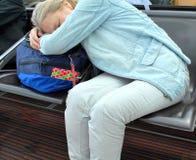Airport terminal sleeper. Stock Photo