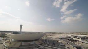 Airport terminal timelapse. Long shot of Airport terminal timelapse stock video footage