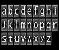 Airport Terminal timetable Display Font Set Royalty Free Stock Image