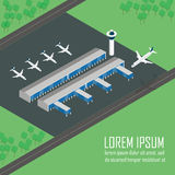 Airport Terminal in vector format. Stock Images