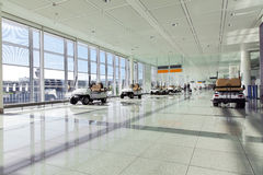 Airport terminal with vehicles for disabled Royalty Free Stock Photography