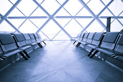 Airport Terminal Waiting Lounge Stock Photo