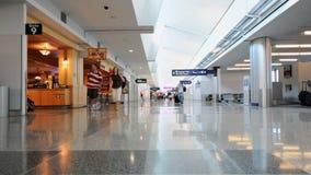 Airport terminal walking travelers stock footage