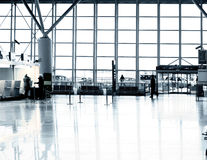 Airport terminal Warsaw. Interior of airport terminal space Warsaw Poland Royalty Free Stock Images