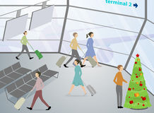 The airport terminals,passenger Royalty Free Stock Image