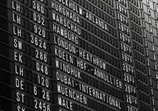 Airport time table Stock Images