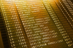 Airport timeboard Royalty Free Stock Photo