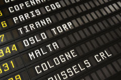 Airport timetable Royalty Free Stock Photography