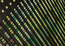Airport timetable. Royalty Free Stock Image