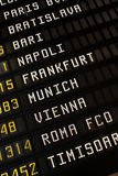 Airport timetable Stock Photos