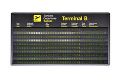 Airport timetable Stock Photography