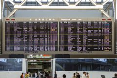 Airport Timetable Departure Schedule royalty free stock images