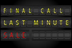 Airport timetable information display stlye. For advertisment Stock Photography