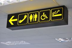 Airport toilet signs Stock Photography