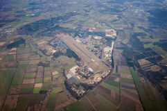 Airport. Top view of a small airport Royalty Free Stock Photos