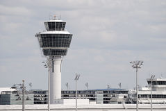 Airport tower Royalty Free Stock Images