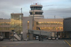 Airport tower stock image