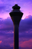 Airport Tower. In the evening Stock Photo