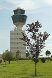 Airport tower. Flight control tower at Athens airport Stock Image