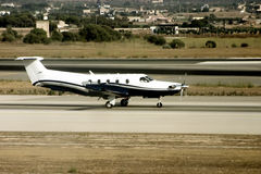 Airport traffic. Trafic in airport on majorca island Stock Image