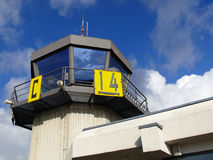 Airport traffic control tower Royalty Free Stock Photo