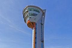 Airport traffic control tower Stock Photo