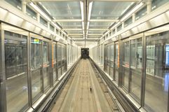 Airport Train Tunnel royalty free stock photo