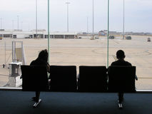 Airport Transit Lounge Pair royalty free stock photography