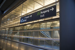 Airport transit sign. The signs at koln/bonn airport Royalty Free Stock Photos