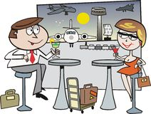 Airport travel cartoon Royalty Free Stock Photo